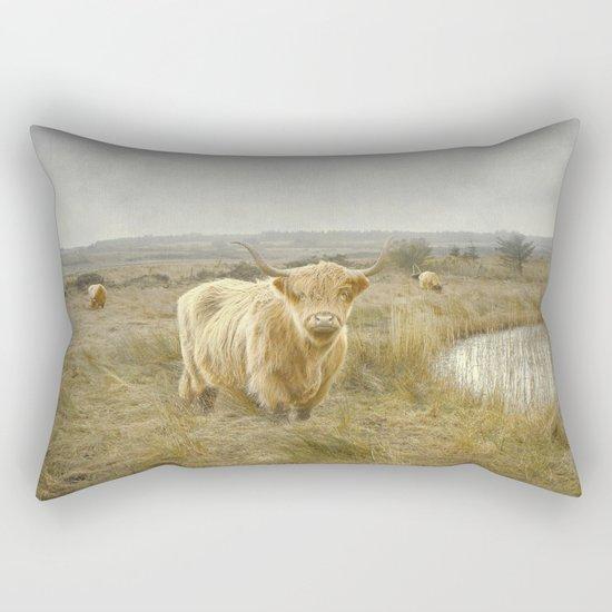 Highland Moo's Rectangular Pillow