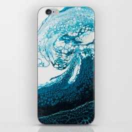 Ocean Wave Acrylic Pour iPhone Skin