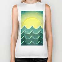 notebook Biker Tanks featuring Sun and sea by Katherine Paulin