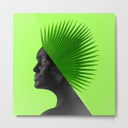 Tropical Head Metal Print