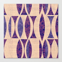 Seventies violet Pattern Canvas Print