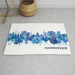 Hanover Germany Skyline Blue Rug