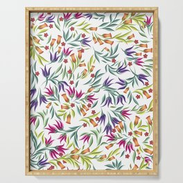 Seamless pattern with different wild flowers Serving Tray