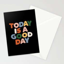 Today is a Good Day - Hand Lettered Motivational Typography Stationery Cards