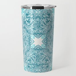 Teal Tangle Square Travel Mug