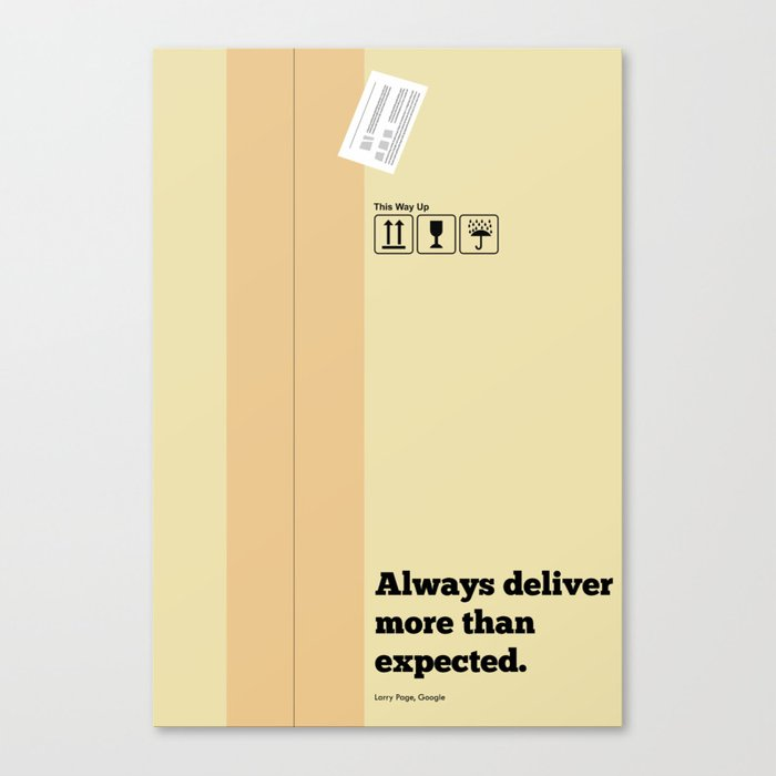 Lab No. 4 - Always Deliver More Than Expected Motivational Typography Quotes Poster Canvas Print