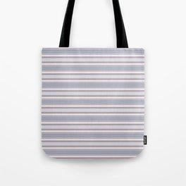 Mauve Blue Stripes Tote Bag