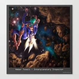 Interplanetary Inspector Canvas Print