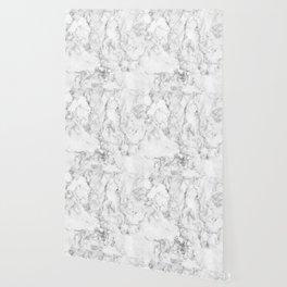 Gray & white faux marble no21 Wallpaper