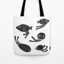 underwater surreal creatures Tote Bag