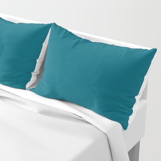 Sherwin Williams Trending Colors of 2019 Oceanside (Dark Aqua Blue) SW 6496 Solid Color by simplysolids