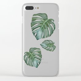 Monstera The Tree Clear iPhone Case