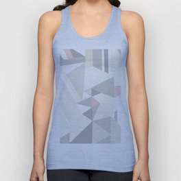 Geometrical modern pastel colors stripes triangles pattern Unisex Tank Top
