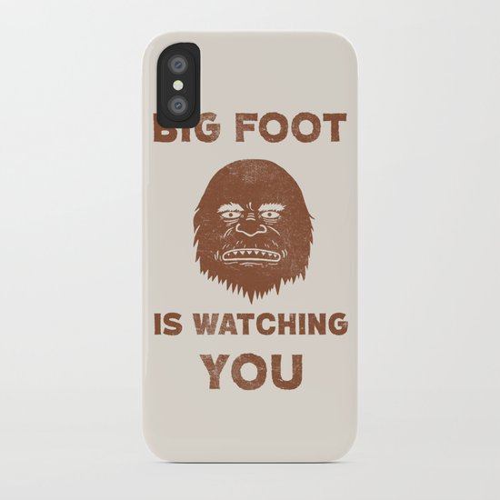 Big Foot Is Watching You iPhone Case