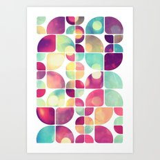 City Lights Pattern Art Print