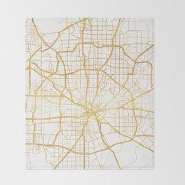 DALLAS TEXAS CITY STREET MAP ART Throw Blanket