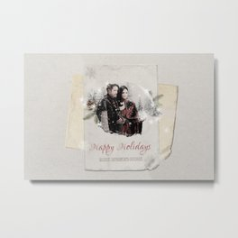 OUAT HAPPY HOLIDAYS // OUTLAW QUEEN Metal Print