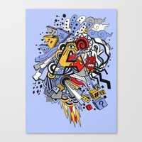 random Canvas Prints featuring Random by waldy chavez
