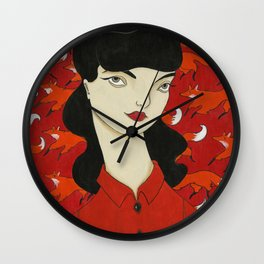 Bittersweet this feeding frenzy Wall Clock