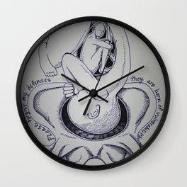 Please Forgive My Defenses Wall Clock
