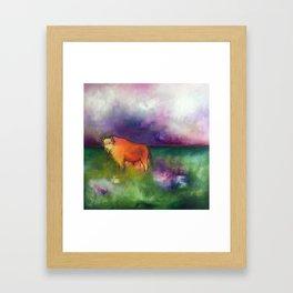 spellbound- the view at hayden valley Framed Art Print