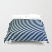 stripes Duvet Covers featuring Stripes by David Zydd