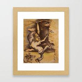 Strugglin' Framed Art Print