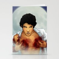 teen wolf Stationery Cards featuring Teen Wolf by Kimball Gray