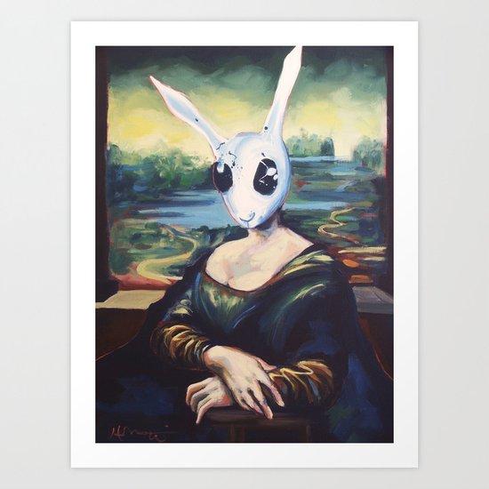 Rabbit Lisa Art Print