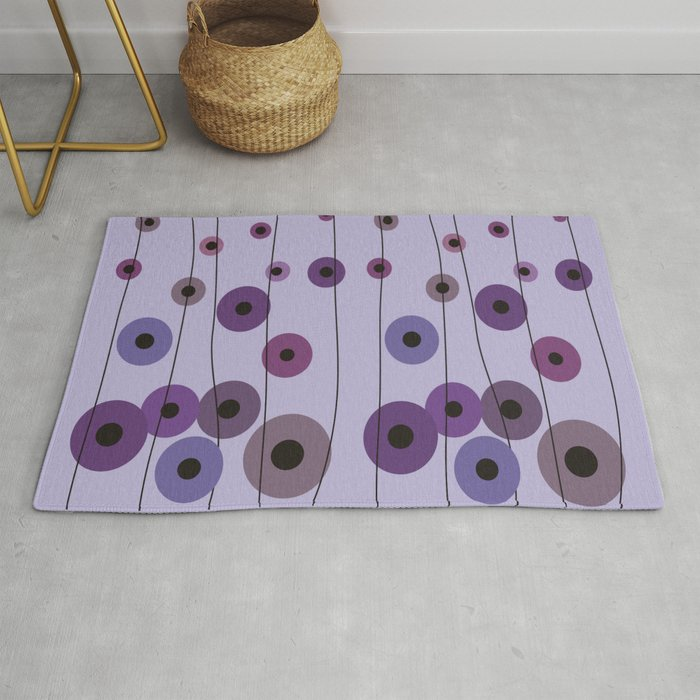 Contemporary Purple Circles Rug By