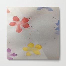 watercolour floral Metal Print