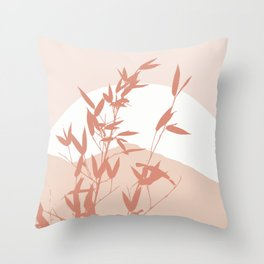 Nature landscape in pink Throw Pillow