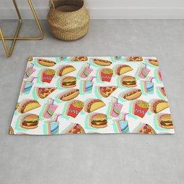 Rainbow Fast Food Rug