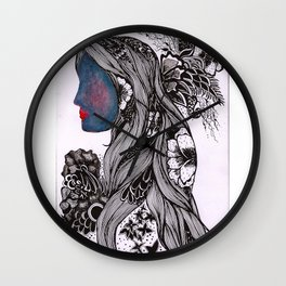 Warmth and Flowers! Wall Clock