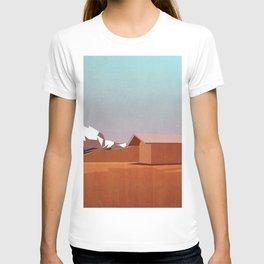 mountain landscape illustration - graphic art print T-shirt