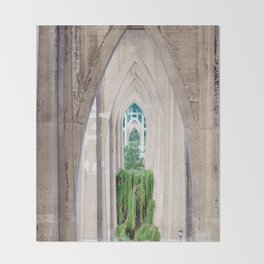 Cathedral Park Portland Throw Blanket