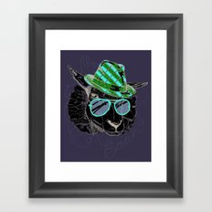 Hipster Sheepster Framed Art Print