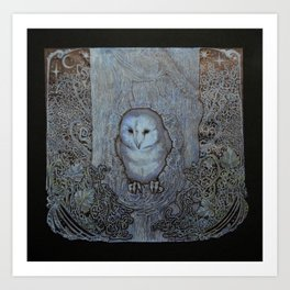 The Eyes of the Forest (Black) Art Print
