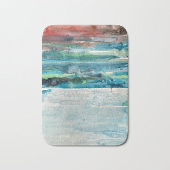 Miami Beach Watercolor #5 Bath Mat