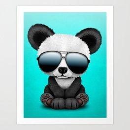 Cute Baby Panda Wearing Sunglasses Art Print