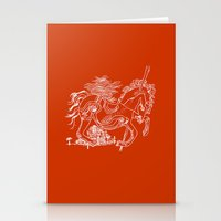 catcher in the rye Stationery Cards featuring The Catcher In The Rye (Red) by Jeremy Jon Myers