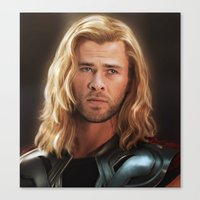 thor Canvas Prints featuring Thor by LindaMarieAnson