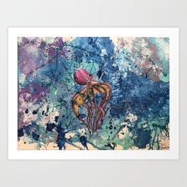 Le Poulpe Art Print