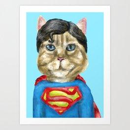Super Cat Art Print