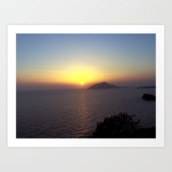 Greek Sunset Art Print