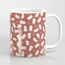 Ditsy Goat Marsala Coffee Mug