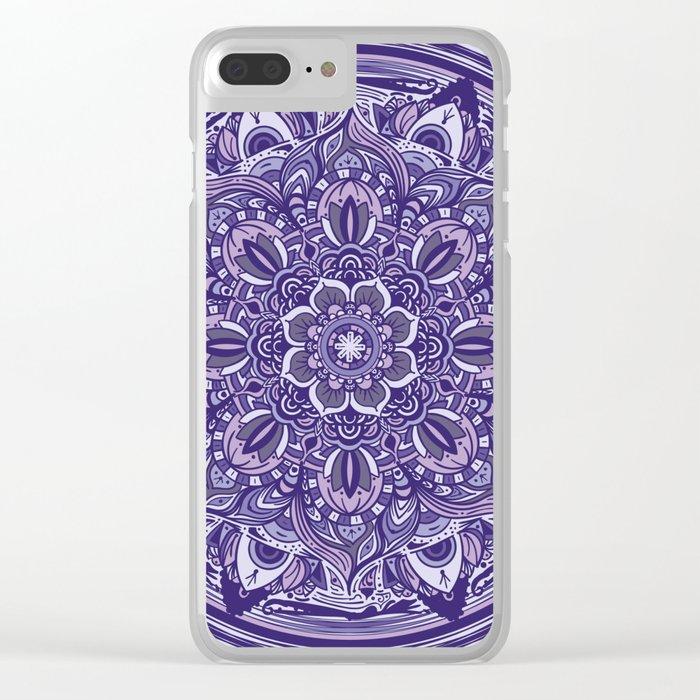 Great Purple Mandala Clear iPhone Case