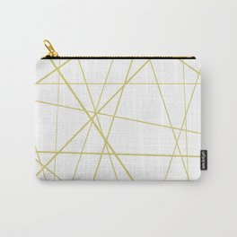 Golden lines on white Carry-All Pouch