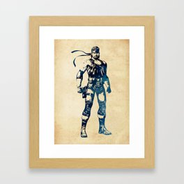 Solid Snake - Metal Gear Solid Framed Art Print