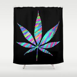 Weed : High Time Colorful Psychedelic Shower Curtain